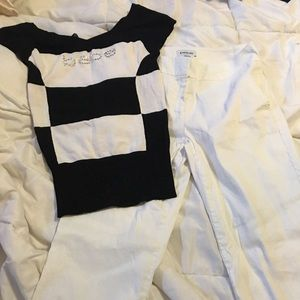 Bebe black and white outfit